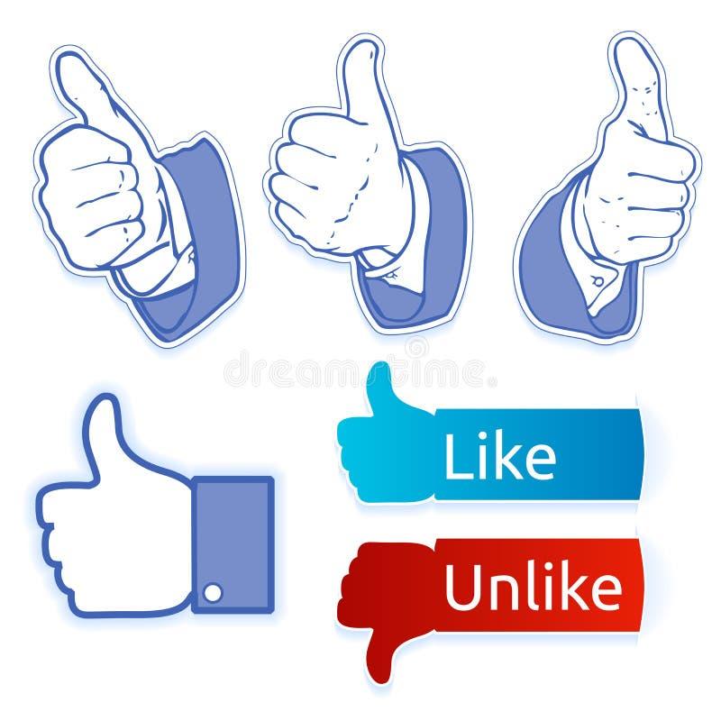 Come il simbolo del facebook fotografie stock libere da diritti