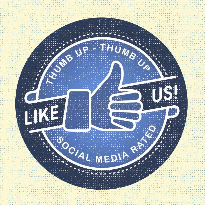 Come noi icona, reti sociali dell'icona dell'illustrazione illustrazione vettoriale