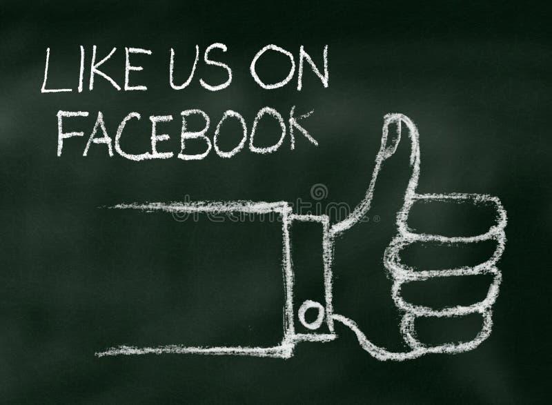 Come noi su Facebook illustrazione di stock
