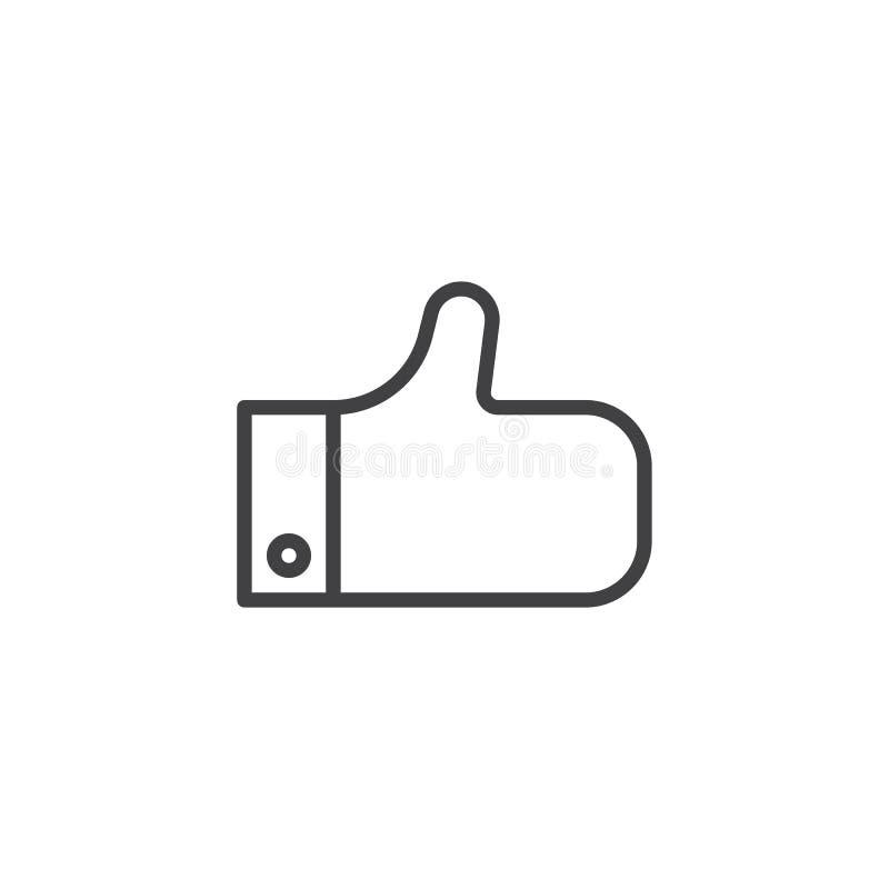 Come, pollice sull'icona del profilo illustrazione di stock