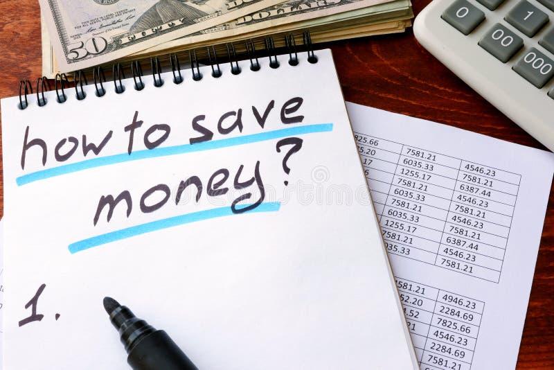 Come risparmiare soldi fotografia stock libera da diritti