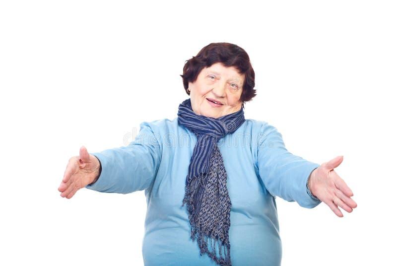 Come to grandma! royalty free stock photo