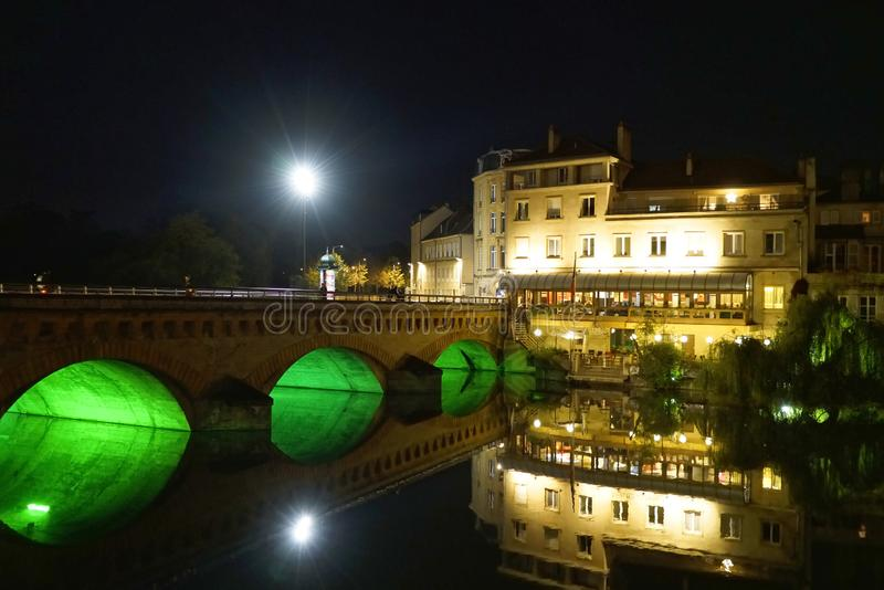 Come to Metz at night royalty free stock photos