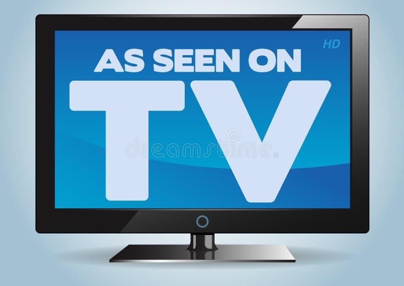 Come veduto sulla TV fotografia stock