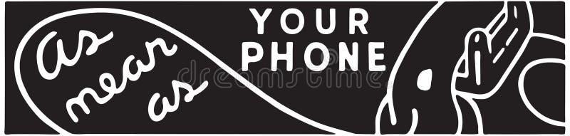 Come vicino come vostro telefono illustrazione di stock