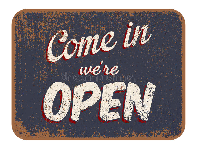 Come in were open royalty free illustration