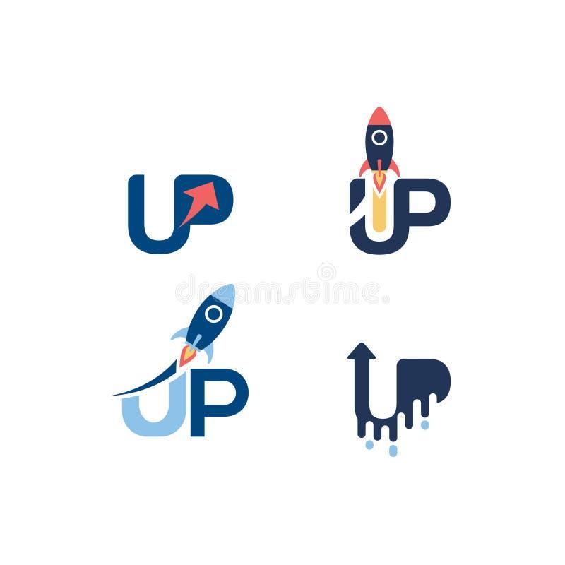 Comece acima o ícone de Logo Set Logo Sign Symbol fotografia de stock royalty free