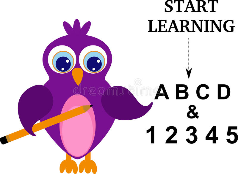 Comece aprender ilustração stock