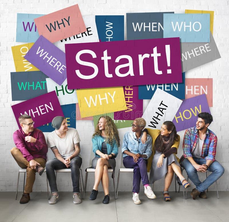 Comece começar o conceito Startup da motivação do lançamento para a frente imagem de stock royalty free