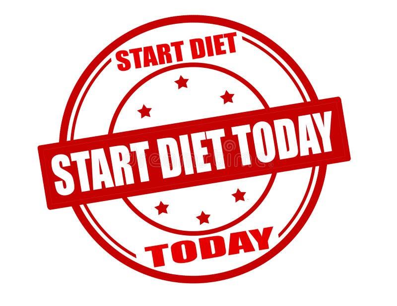 Comece a dieta hoje ilustração royalty free