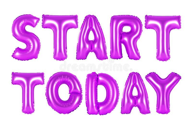Comece hoje, cor roxa imagem de stock