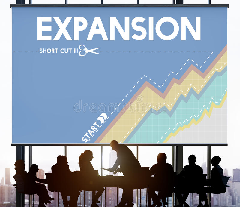 Comece o empresário Way Success Business da expansão imagem de stock