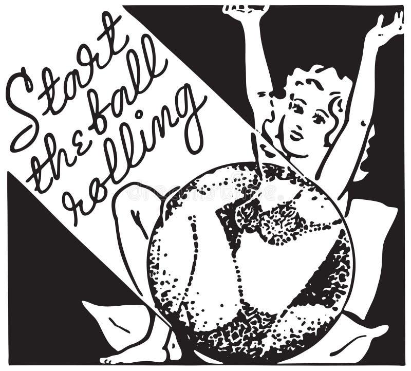 Comece o rolamento da bola ilustração do vetor