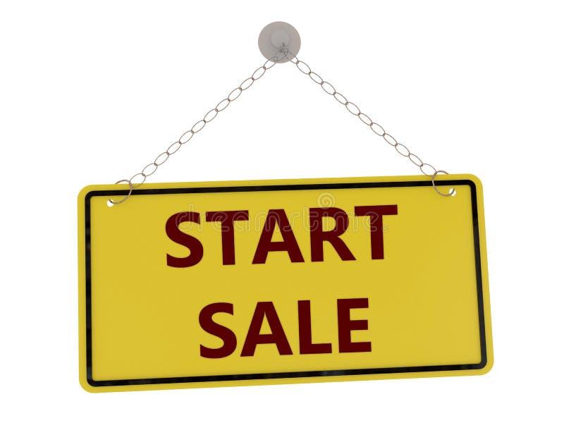 Comece o sinal da venda ilustração stock