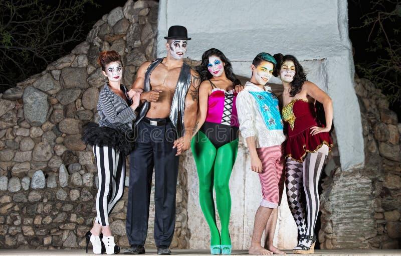 Comedia Del Arte Clowns photo libre de droits