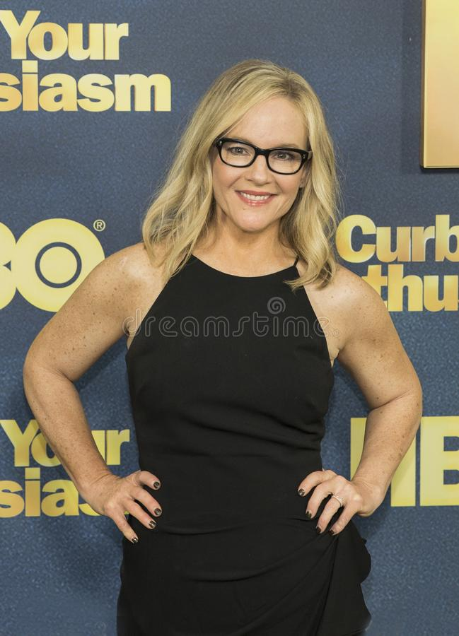 Rachel Harris. Comedian and actress Rachel Harris arrives for the NY premiere of the 9th season of HBO`s hit comedy, `Curb Your Enthusiasm.` Larry David stock photos