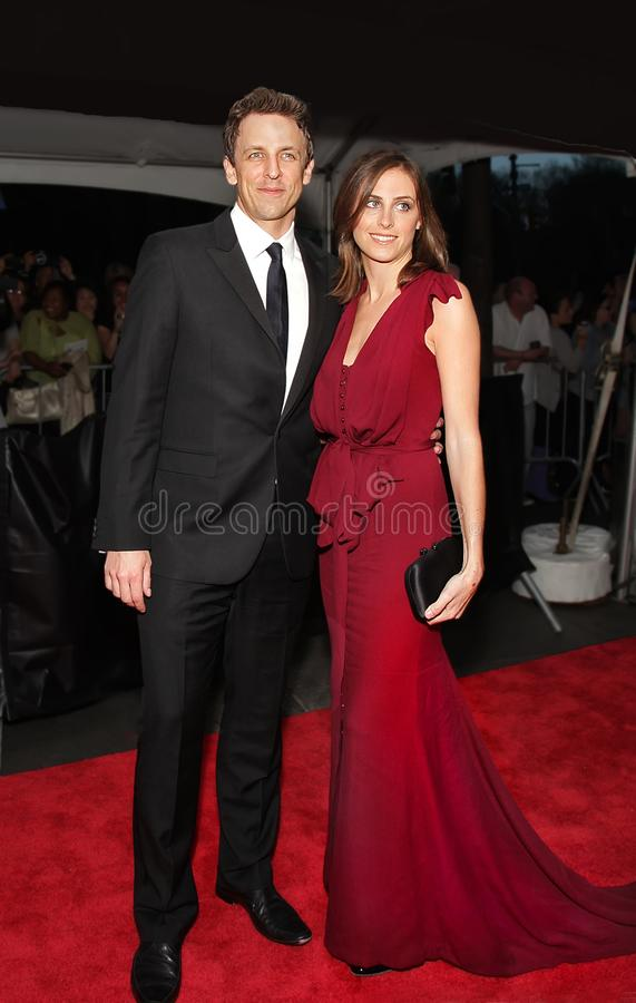 Seth Meyers and Alexi Ashe. Comedian, writer, and late night talk show host Seth Meyers and wife Alexi Ashe, a human rights attorney, arrive on the red carpet stock images