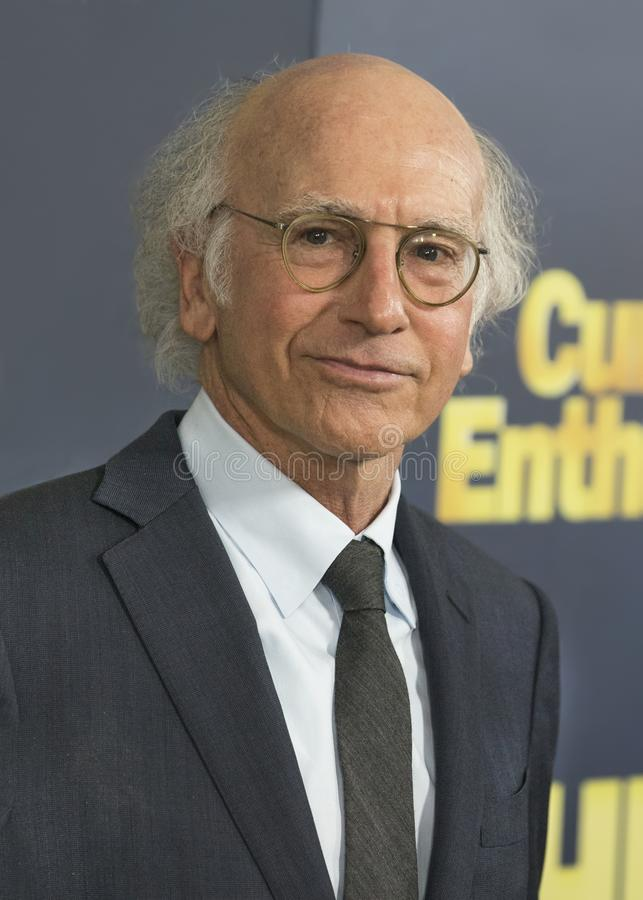 Larry David. Comedic actor Larry David arrives for the NY premiere of the 9th season of HBO`s hit comedy, `Curb Your Enthusiasm.` Larry David plays a neurotic royalty free stock image