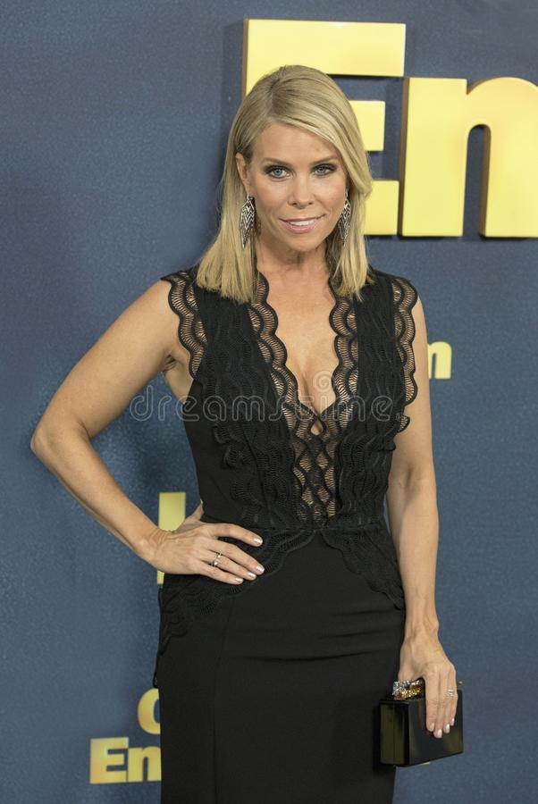 Cheryl Hines. Comedic actress Cheryl Hines arrives for the NY premiere of the 9th season of HBO`s hit comedy, `Curb Your Enthusiasm.` Larry David plays a royalty free stock photography