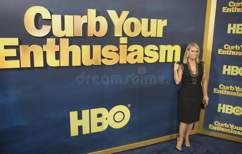 Cheryl Hines. Comedic actress Cheryl Hines arrives for the NY premiere of the 9th season of HBO`s hit comedy, `Curb Your Enthusiasm.` Larry David plays a royalty free stock image