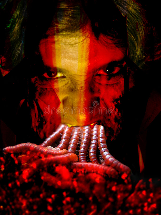 Comedor del gusano imagen de archivo libre de regalías