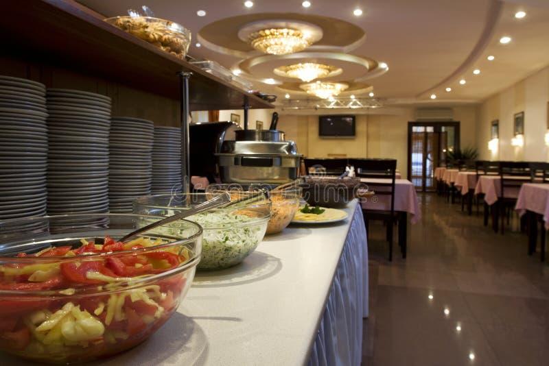 Comedor en hotel fotografía de archivo libre de regalías