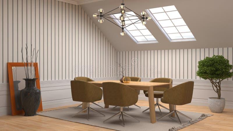Comedor interior ilustración 3D libre illustration