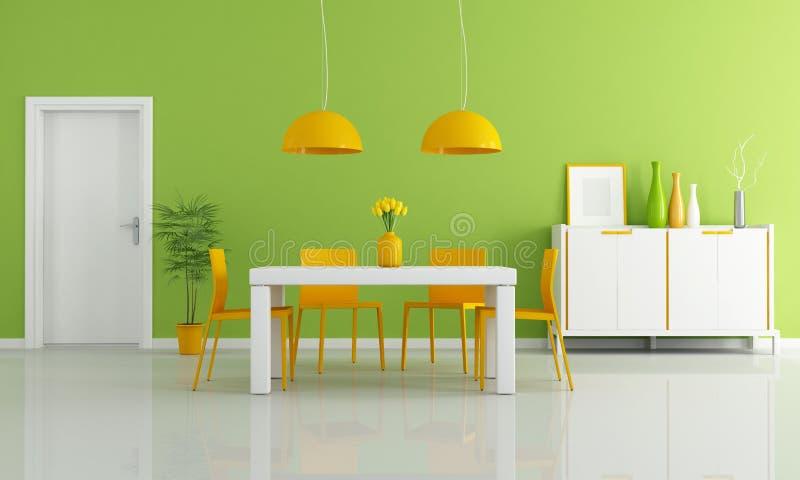 Comedor moderno coloreado ilustración del vector