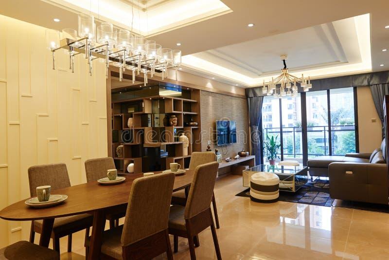 Comedor y sala de estar foto de archivo libre de regalías