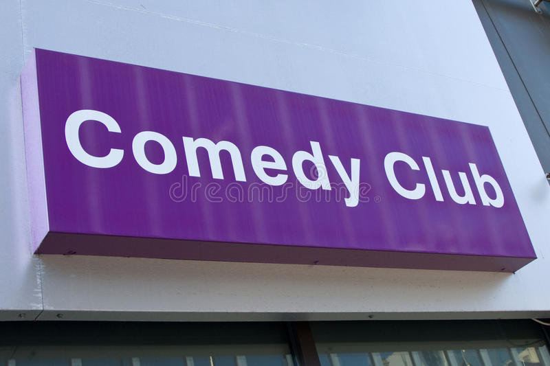 Comedy Club Sign royalty free stock photography
