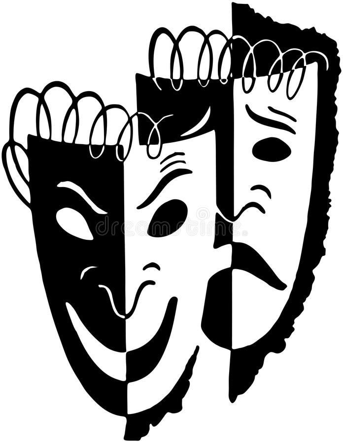 Download Comedy Drama Masks stock vector. Image of theater, scalable - 42098466