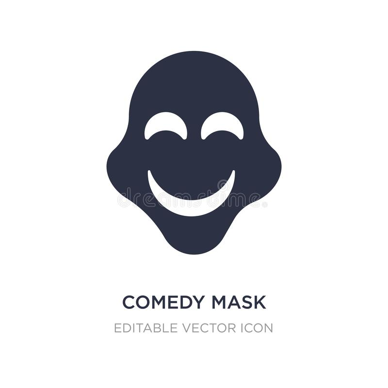 comedy mask icon on white background. Simple element illustration from Education concept royalty free illustration