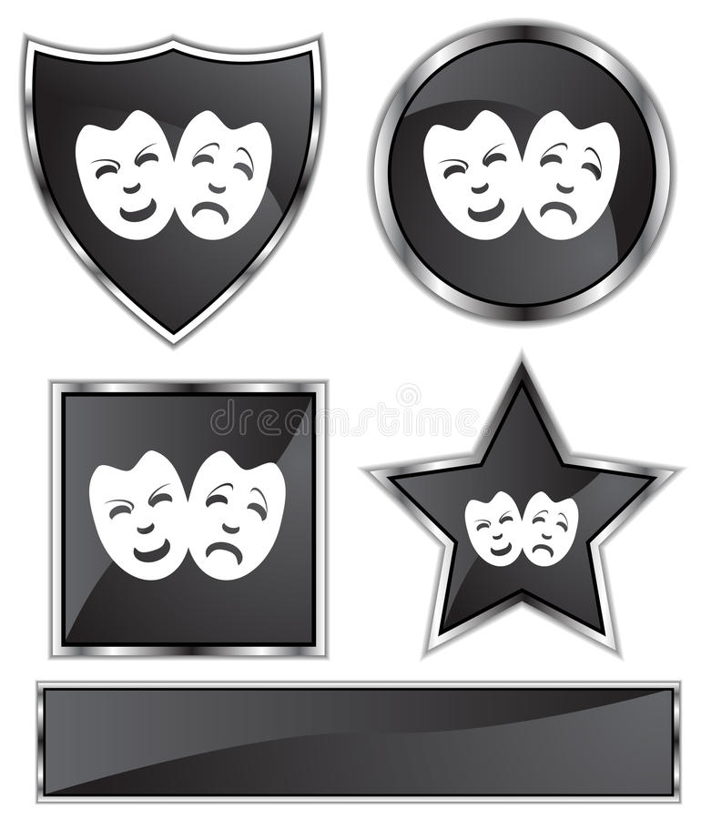 Download Comedy Masks stock vector. Image of disguise, costume - 9990538