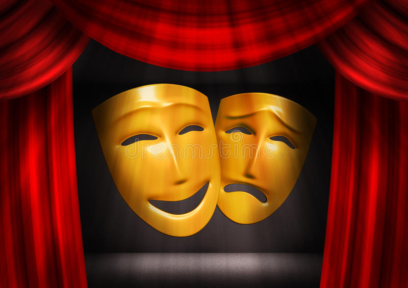 Comedy and tragedy royalty free stock image