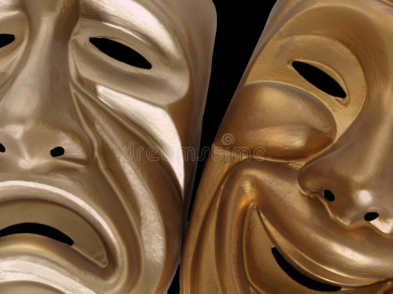 Download Comedy and Tragedy Masks stock image. Image of smile - 10811835