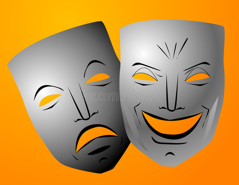 Download Comedy And Tragedy Masks Stock Photography - Image: 5370592