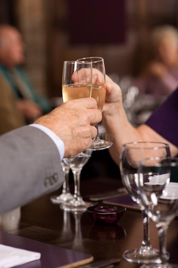 Comemoração com champanhe fotos de stock