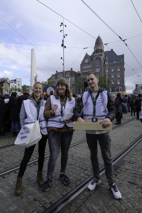 Comemoração de 4 de maio em Voluntários para a Liberdade fotografia de stock