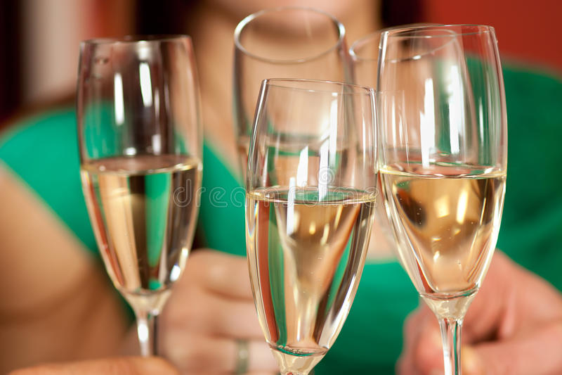 Comemoração e brinde. imagem de stock royalty free