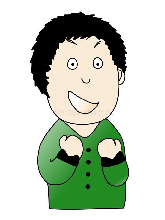 Download Comemoração Ectática Feliz Do Homem Sendo Um Vencedor Imagem de Stock - Imagem de cheerful, vencedor: 29846761