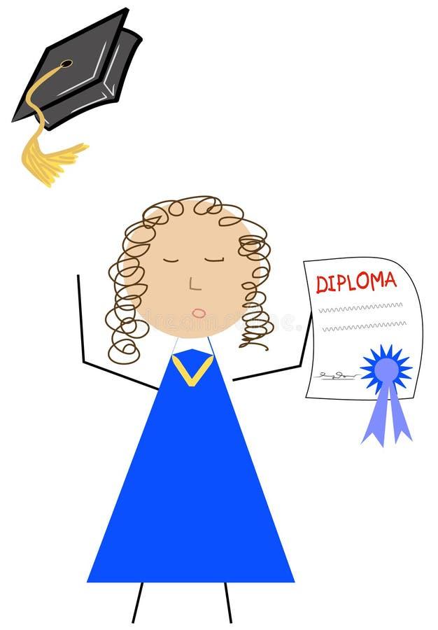 Comemoração graduada ilustração do vetor