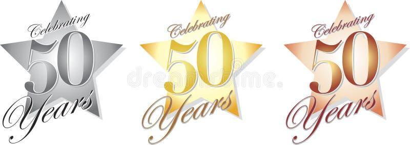 Comemorando 50 anos/eps ilustração stock