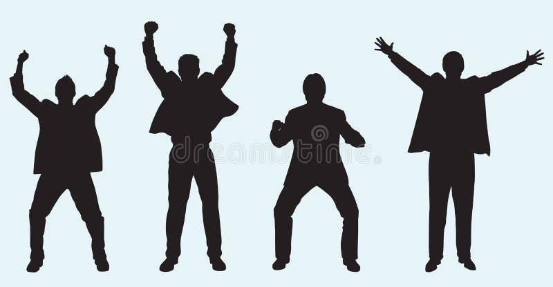 Comemorando homens de negócios ilustração stock