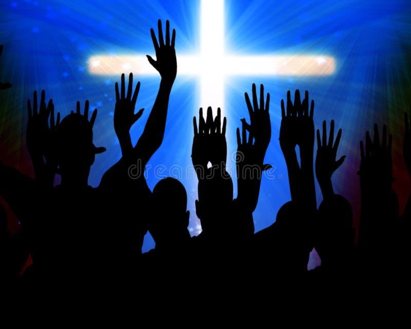 Comemorando jesus ilustração royalty free