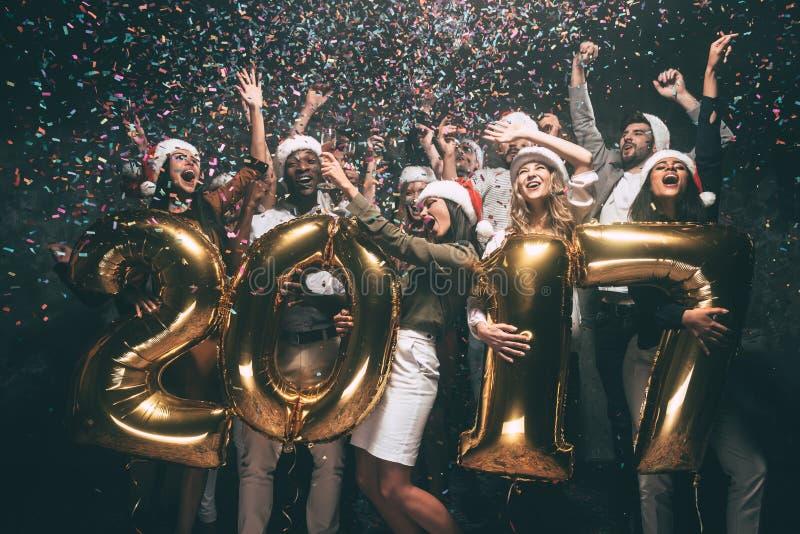 Comemorando o ano novo foto de stock royalty free