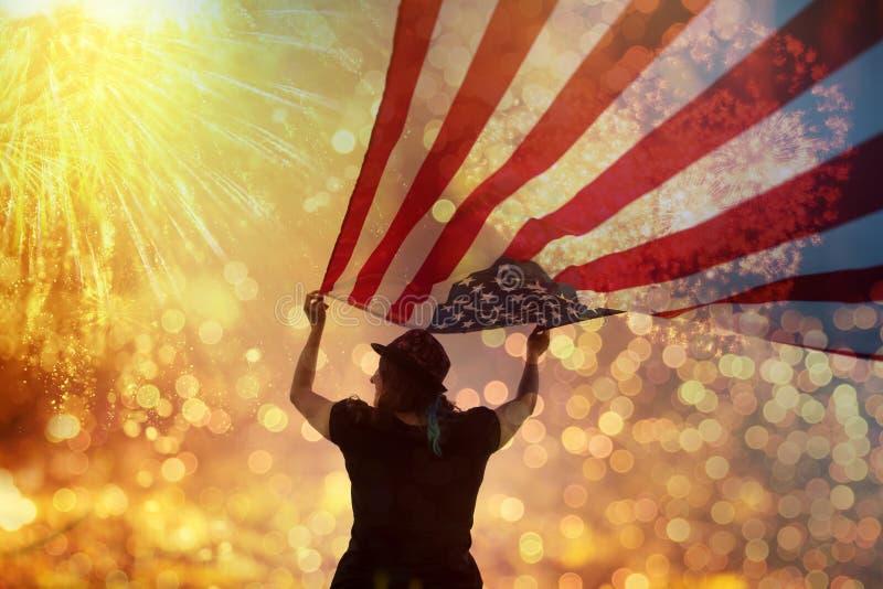Comemorando o Dia da Independência imagens de stock