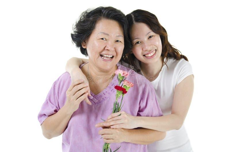 Comemorando o dia de mães fotografia de stock royalty free