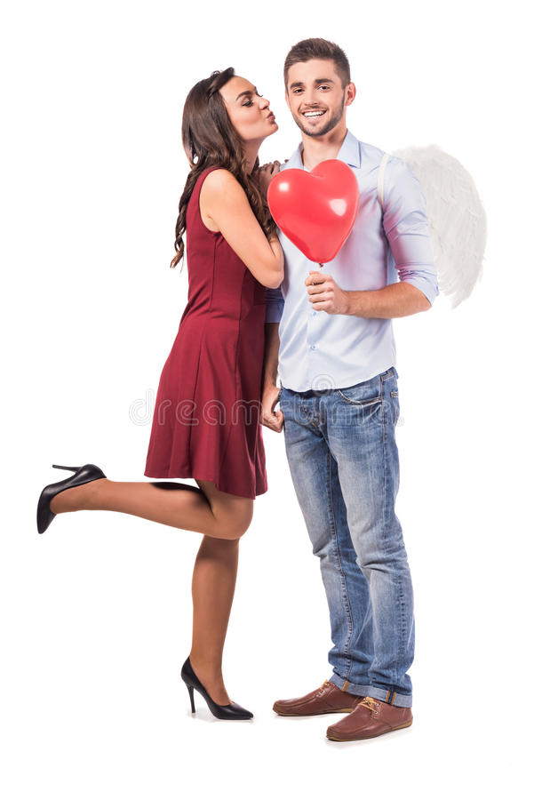 Comemorando o dia de Valentim fotos de stock royalty free