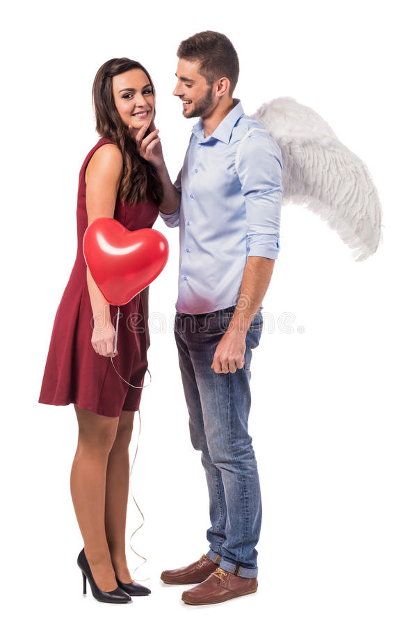Comemorando o dia de Valentim foto de stock royalty free