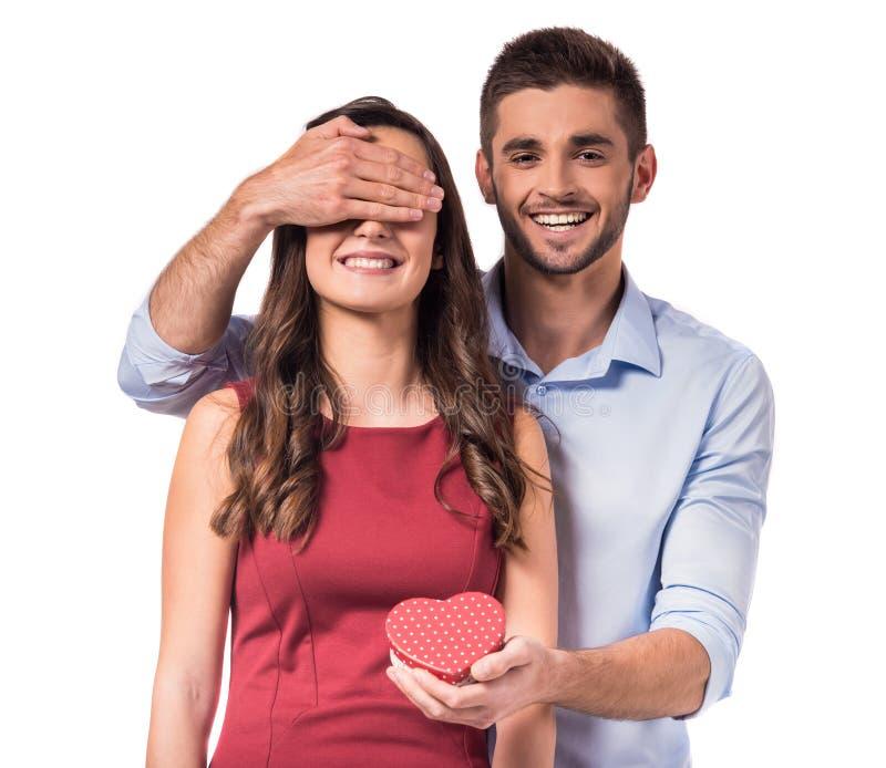 Comemorando o dia de Valentim imagens de stock